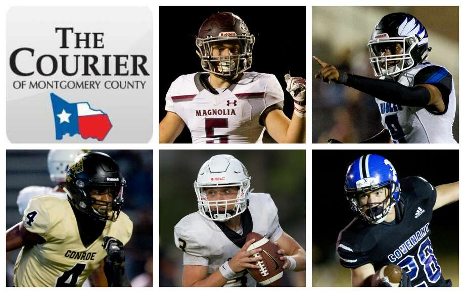 Magnolia's Mitch Hall, New Caney's Zion Childress, Conroe's Michael Phoenix II, Conroe's Christian Pack and Covenant's Wade Harper are The Courier's nominees for Offensive MVP. Photo: Staff Photos
