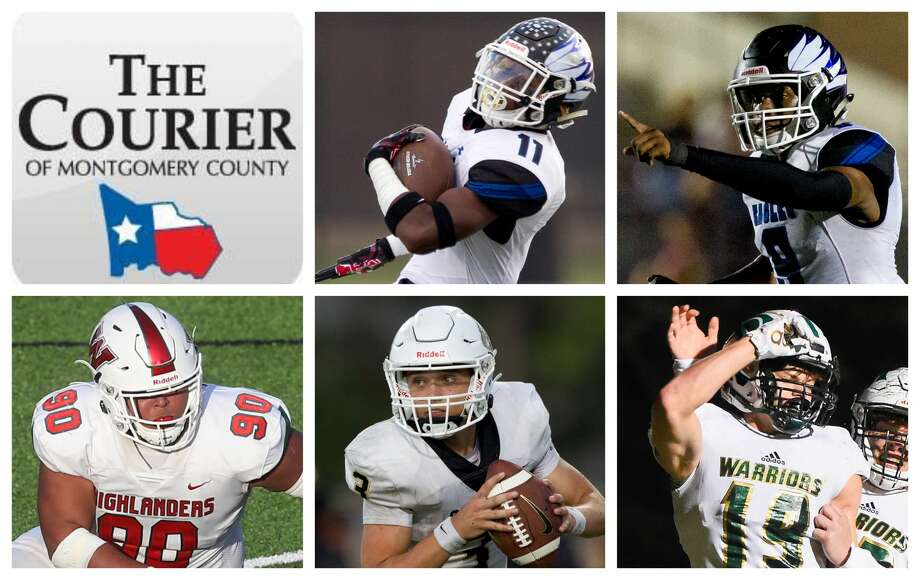 New Caney's C.J. Sanders, New Caney's Zion Childress, The Woodlands' Caleb Fox, Conroe's Christian Pack and TWCA's Caleb Chappelle are The Courier's nominees for Player of the Year. Photo: Staff Photos