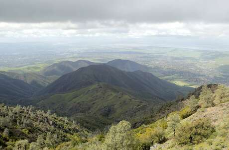 Burma Road on Mount Diablo rises up for a towering view over Mitchell Canyon and far beyond