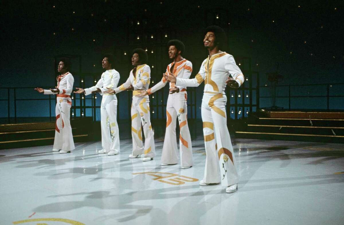 """AT THE WOLF DEN: The Spinners, seen here in a 1974 appearance on """"American Bandstand,"""" will play the Wolf Den at Mohegan Sun at 8 p.m. Saturday, Dec. 29. The show is free but a line forms fairly early."""
