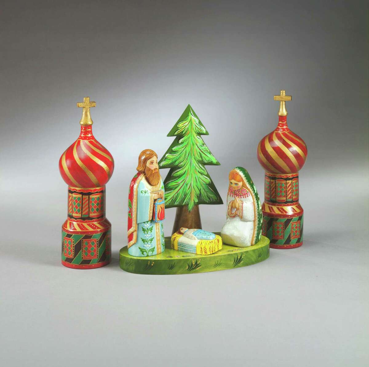 """EUROPEAN CRECHES: """"Figurines, Holy Family"""" from Russia is part of the annual exhibit of """"Christmas in Europe"""" on display at the Knights of Columbus Museum on State Street in New Haven through Feb. 2. Free."""