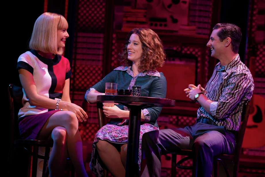 """From left,Kathryn Boswell (""""Cynthia Weil""""), Kennedy Caughell (""""Carole King"""") and James Michael Lambert (""""Barry Mann""""). Photo: Joan Marcus / Contributed Photo"""
