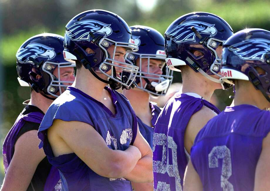 University of Wisconsin-Whitewater players are seen during practice at Conroe High School, Wednesday, Dec. 18, 2019, in Conroe. Wisconsin-Whitewater will face North Central Illinois on Friday in the NCAA Division III football national championship game at Woodforest Bank Stadium at 7 p.m. Photo: Jason Fochtman, Houston Chronicle / Staff Photographer / Houston Chronicle