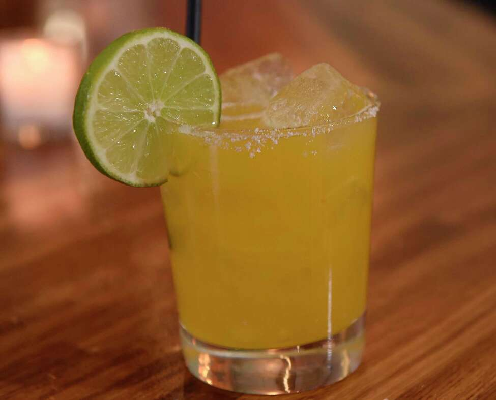 Passion fruit margarita - tequila, passionfruit, triple sec, lime and agave at The Daisy on Thursday, Dec. 12, 2019 in Troy, N.Y. (Lori Van Buren/Times Union)