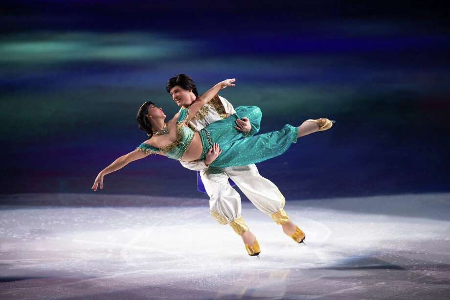 "Aladdin and Jasmine will be on hand when the ""Disney on Ice"" production, ""Dream Big,"" skates into Bridgeport's Webster Bank Arena for seven shows, Thursday through Sunday. Find out more. Photo: Feld Entertainment / Contributed Photo"