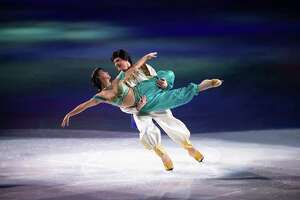 """Aladdin and Jasmine will be on hand when the """"Disney on Ice"""" production, """"Dream Big,"""" skates into Bridgeport's Webster Bank Arena for seven shows, Jan. 2-5."""