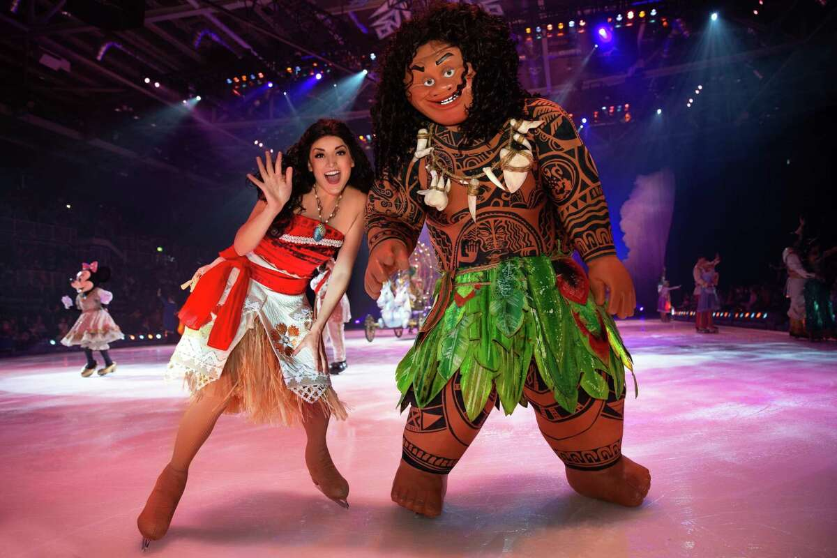 """Moana and demigod Maui will be on hand when the """"Disney on Ice"""" production, """"Dream Big,"""" skates into Bridgeport's Webster Bank Arena for seven shows, Jan. 2-5."""