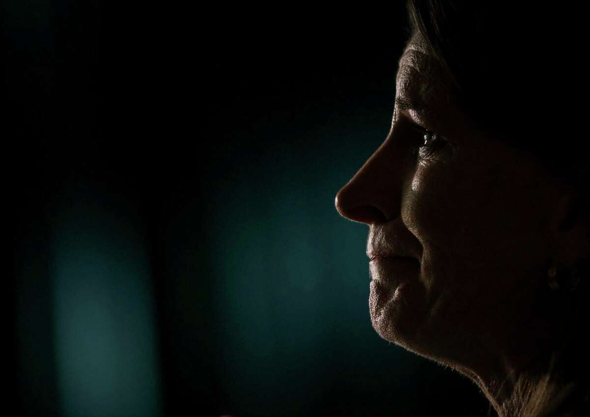 """""""If you turn around and face the audience, you see those eyes. The eyes don't change. It's still the same hurt and you don't outgrow it,"""" said a woman named Christine after she listened to a presentation about child sexual abuse during the Caring Well Conference on Thursday, Oct. 3, 2019, in Grapevine. """"It freezes your soul and you carry that with you as long as you live."""""""