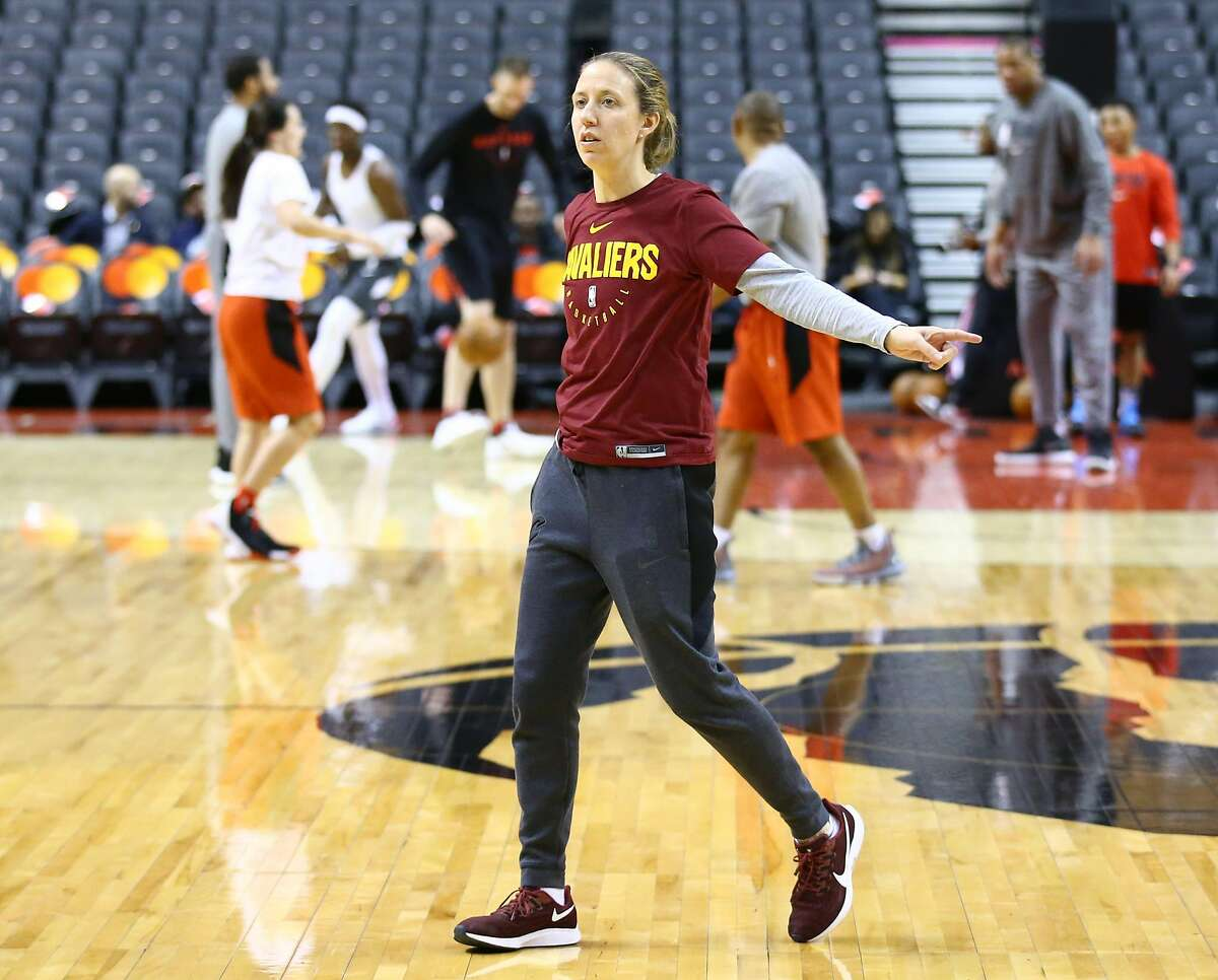 TORONTO, ON - DECEMBER 16: Assistant Coach Lindsay Gottlieb of the Cleveland Cavaliers during warm up prior to an NBA game against the Toronto Raptors at Scotiabank Arena on December 16, 2019 in Toronto, Canada. NOTE TO USER: User expressly acknowledges