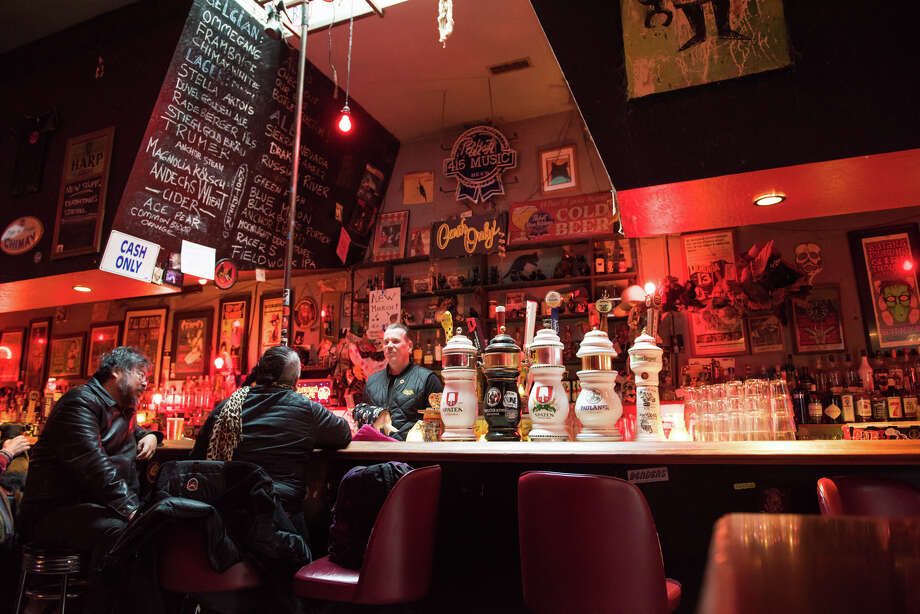 Storied dive bar Lucky 13 has been on the verge of being razed for condos for almost twenty years. But it's still here. Photo: Blair Heagerty / SFGate