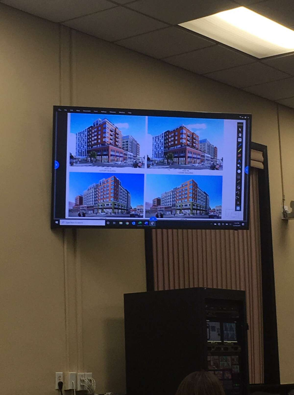 A scaled-back version of a planned development project in Port Chester, N.Y., was shown to the public.