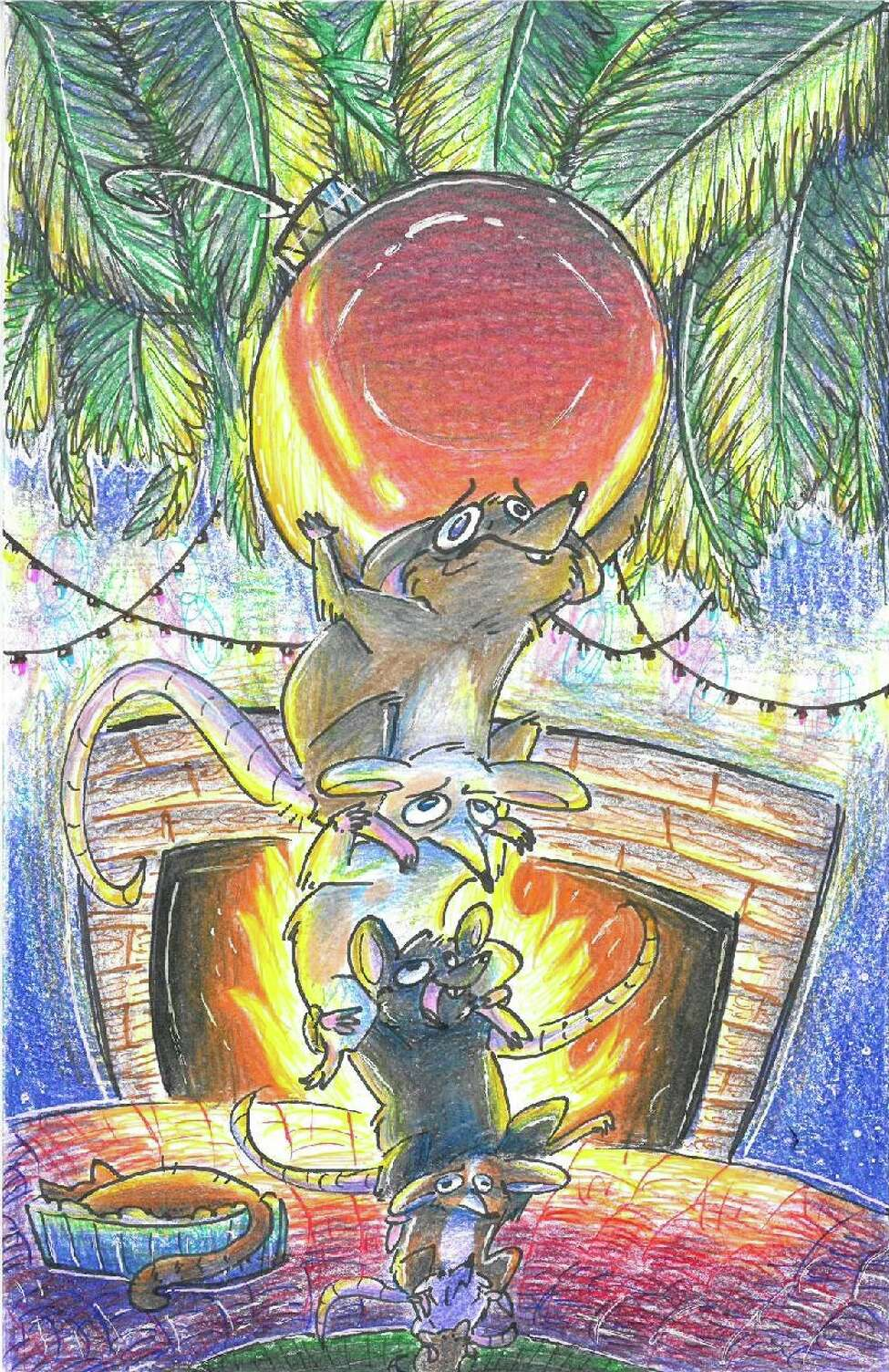 Grace Bombard, a 12th grade student from Loudonville Christian School, is the 2019 Holiday Card Contest grand prize winner. Her card here will be on the front page of the Times Union on Wednesday, Dec. 25.