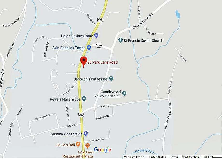 The break occurred in the area of 80 Park Lane Road, which is Route 202, in New Milford during the overnight hours, causing the road to be closed. Photo: Google Maps