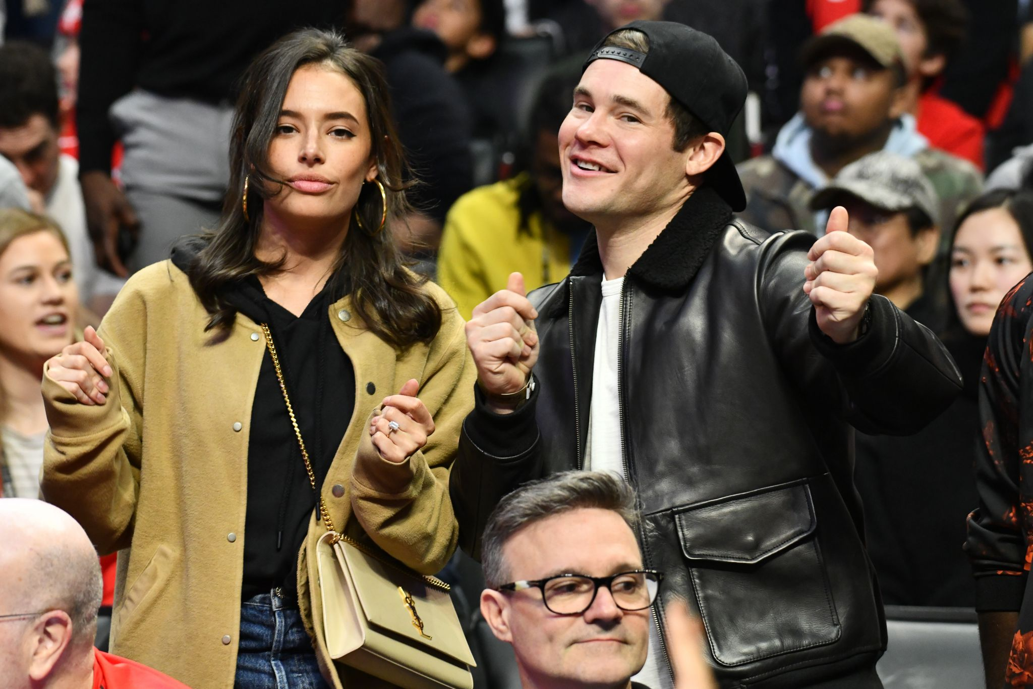 A look at the celebrities at the Rockets-Clippers game