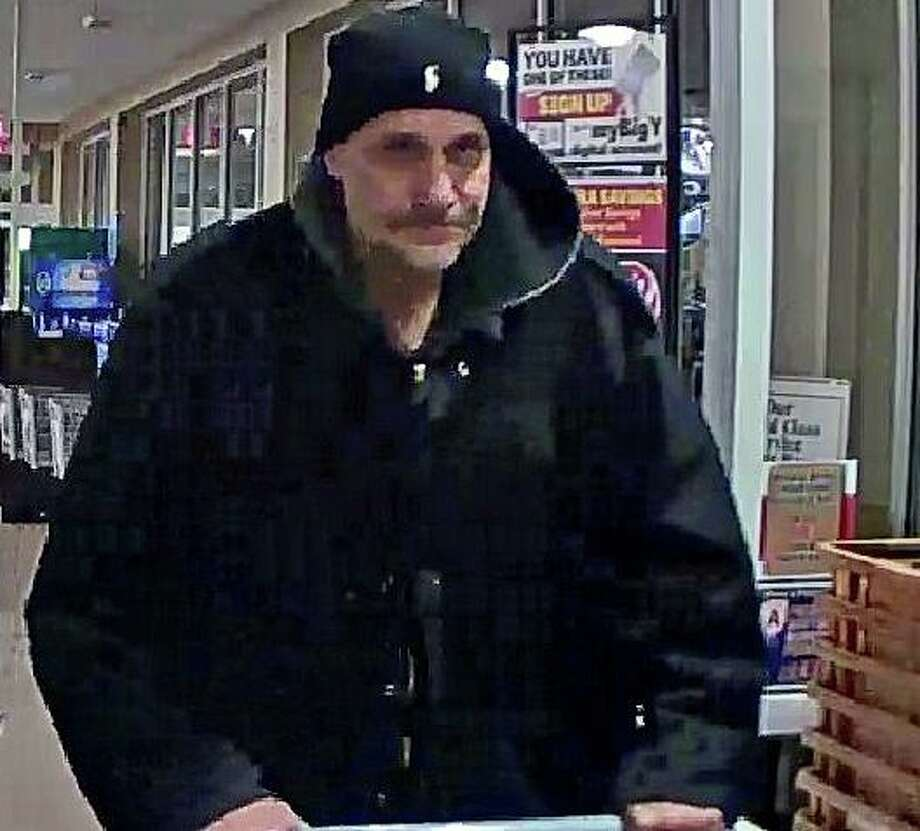 Derby police are looking for this man who filled a shopping cart with multiple Red Bull and Monster drinks and fled the store without paying on Saturday, Dec. 14, 2019 at Big Y on Route 34. Photo: Derby Police Photo
