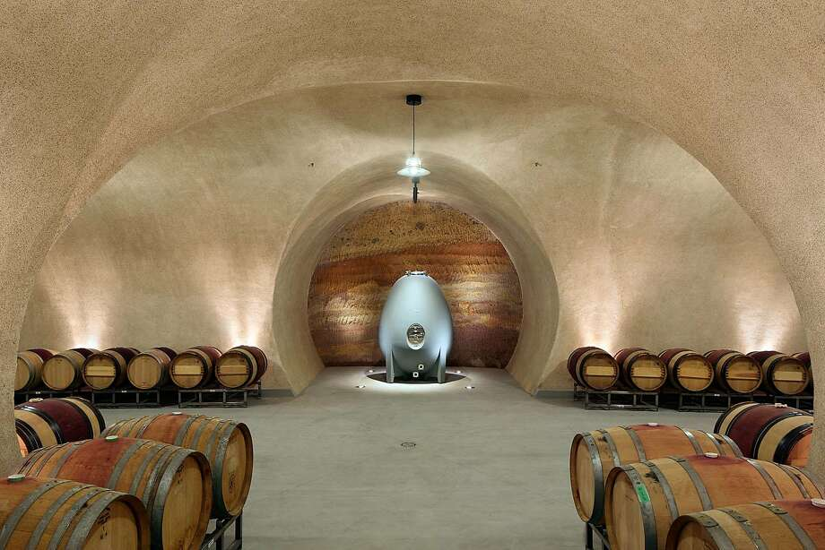 The wine cave at Hamel Family Wines in Sonoma Valley. Photo: Bruce Damonte
