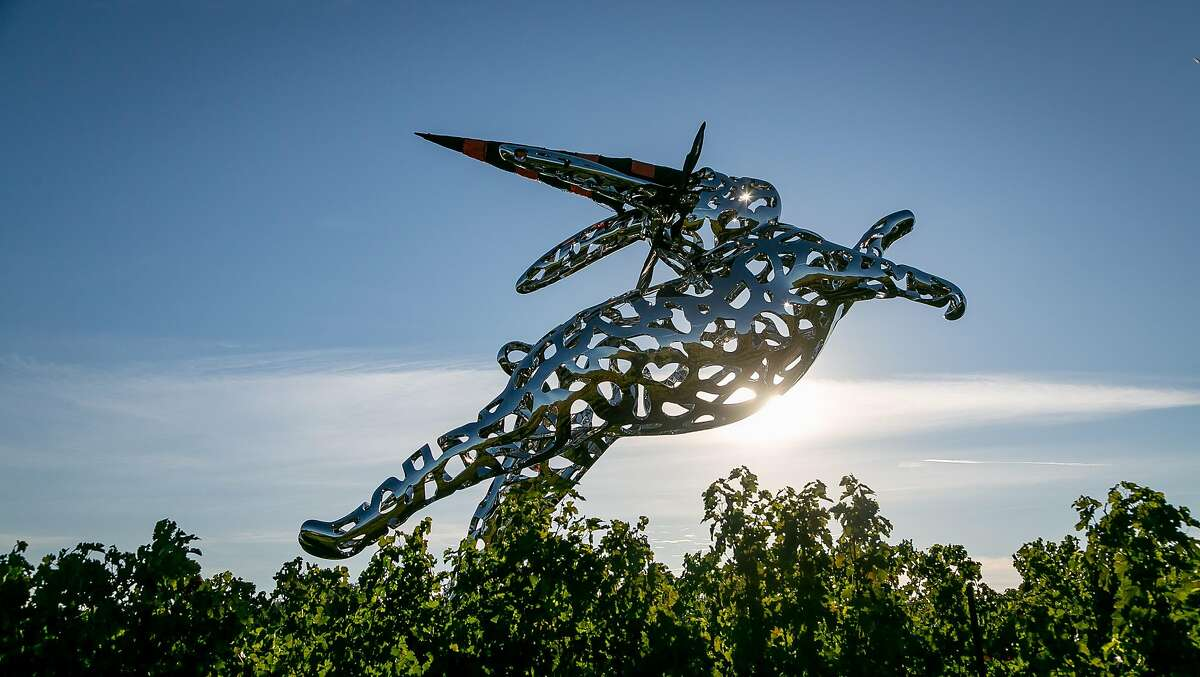 Hall Winery is notable for the 35-foot-tall bunny statue, called Bunny Foo Foo.