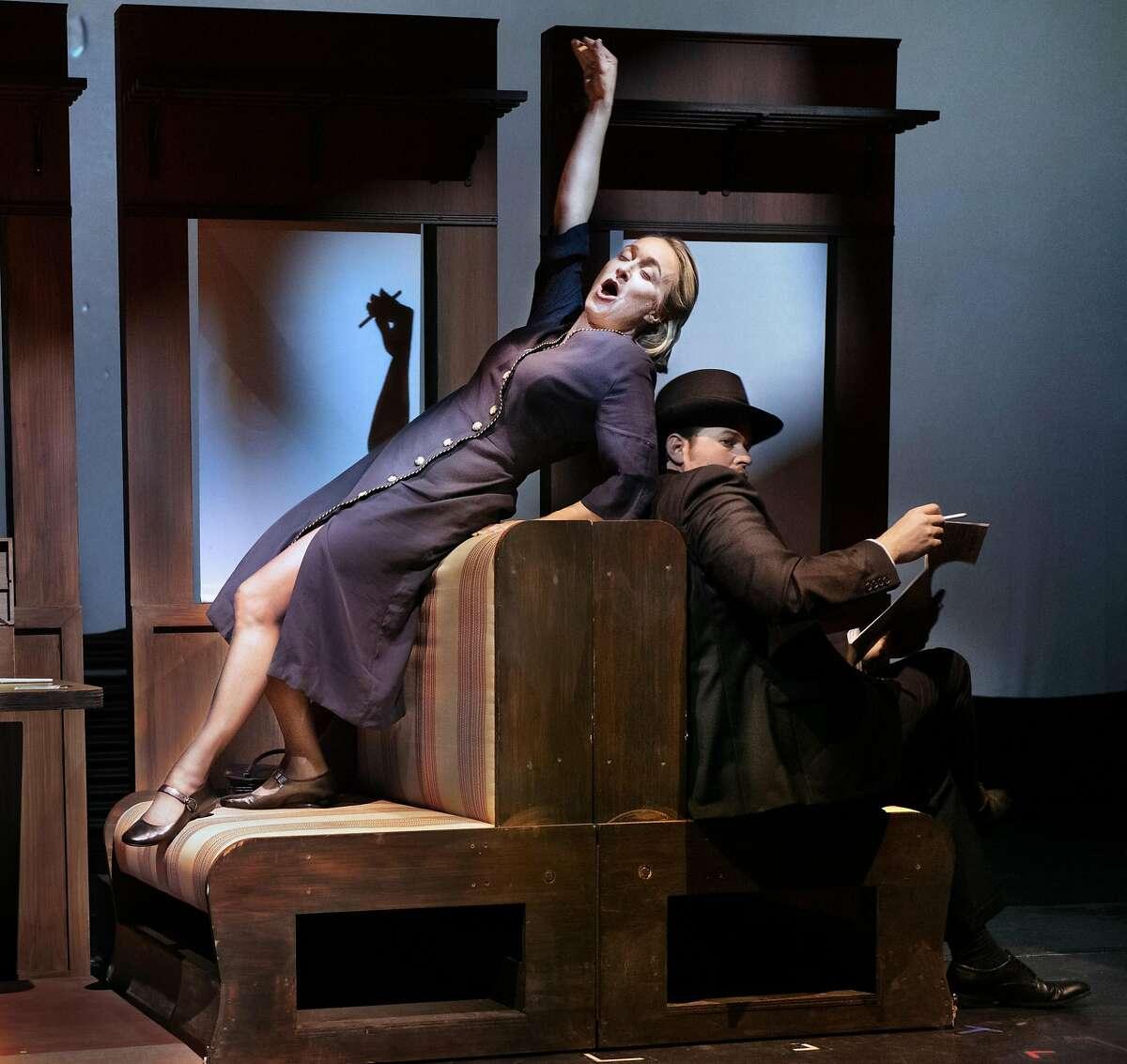 Marnie Breckinridge (l.) and Gabriel Preisser in the world premiere of