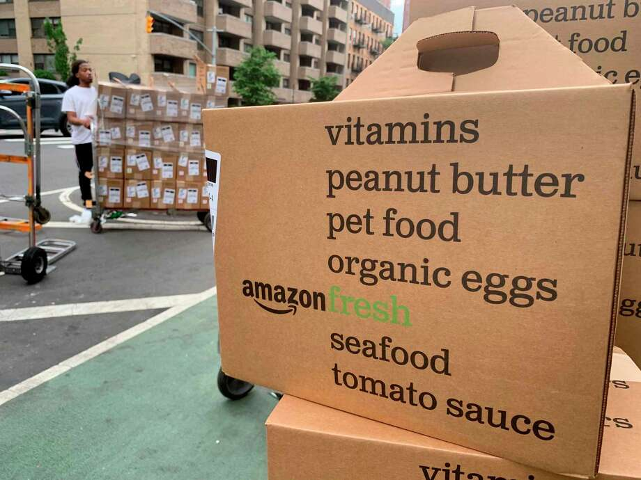 Amazon's online grocery delivery service, Amazon Fresh, is now available to Prime members in San Antonio. Photo: Jenny Kane /Associated Press / Copyright 2019 The Associated Press. All rights reserved.