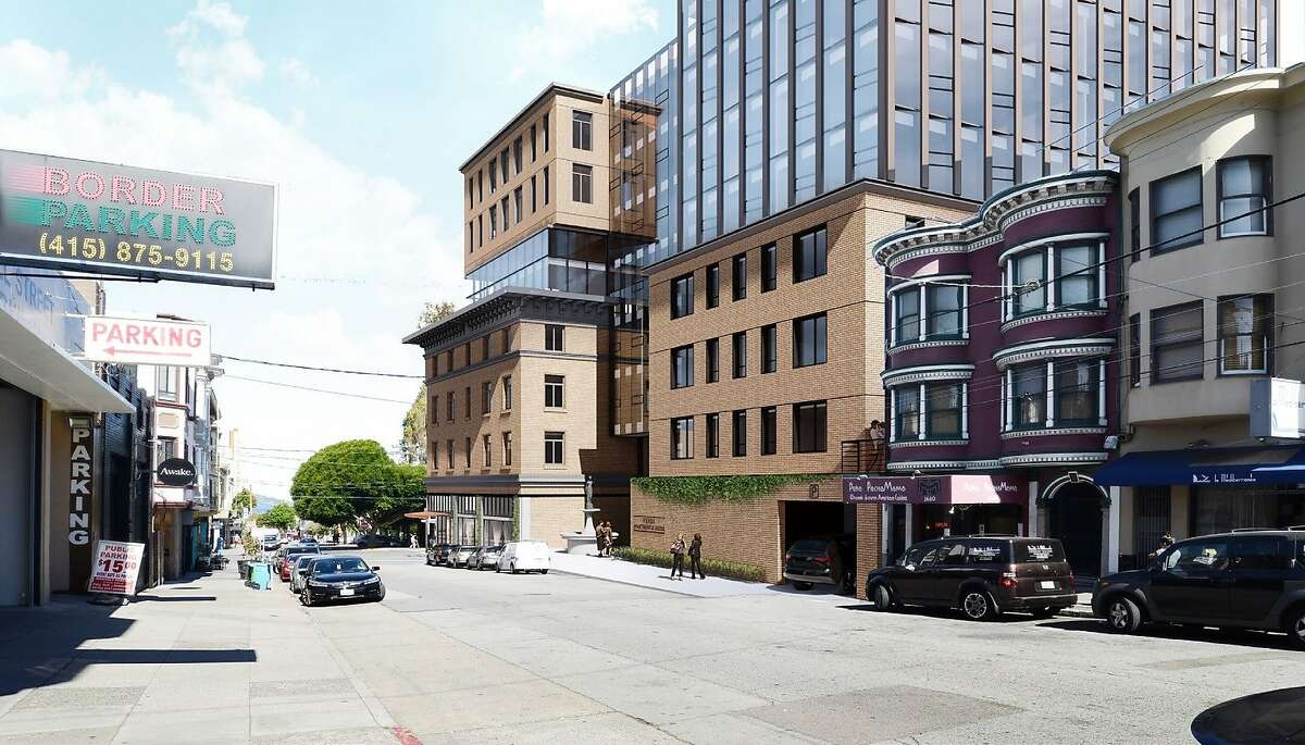 Renderings of a proposed housing, hotel and retail project at the site of a��North Beach�building at 659 Union St. destroyed by a fire.