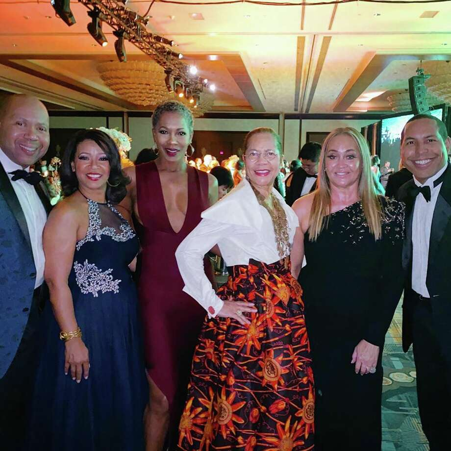 Augusta Green, Tamala Wilson, Monica Sutton, Merele Yarborough, Gaynell Drexler and Bryce Kennard at the United Negro College Fund gala at the Hilton-Americas Hotel in November. Photo: Courtesy Photos