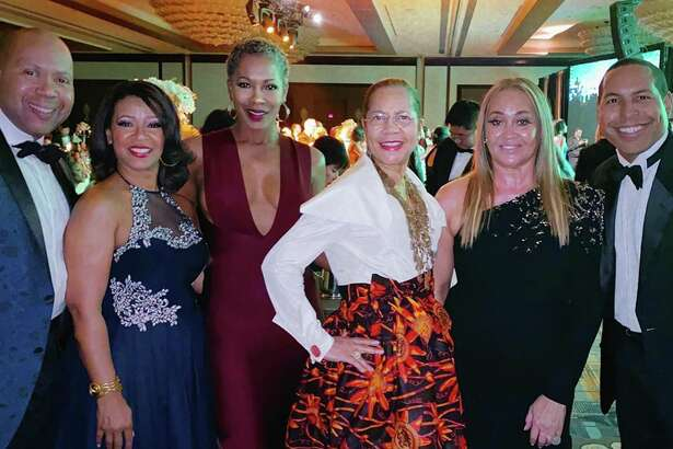 Augusta Green, Tamala Wilson, Monica Sutton, Merele Yarborough, Gaynell Drexler and Bryce Kennard at the United Negro College Fund gala at the Hilton-Americas Hotel in November.