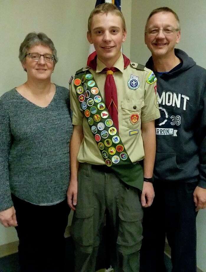 Aaron Kaskinen has reached the rank of Eagle Scout after much hard work. (Courtesy Photo)