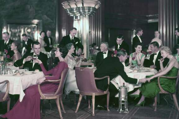 Formal night on a Cunard cruise in the 1940s
