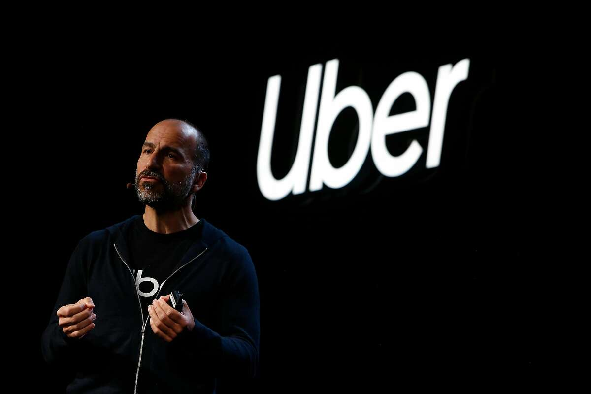 Dara Khosrowshahi, Uber CEO, speaks during a press event announcing new innovations and products on Thursday, September 26, 2019 in San Francisco, CA.