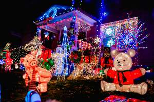 Holiday lights on display in Hartford on December 17, 2019