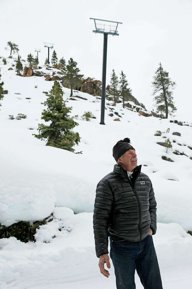Troy Caldwell, a former professional freestyle skier who has lived at Tahoe for 50 years, has his sights set on a White Wolf village for members only. Photo: Santiago Mejia / The Chronicle