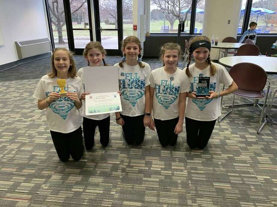 Megan Kitchen, Nora Mensing, Olivia Sayuk, Andrea Cocran and Sophia Bohnak are all a part of team FLUSH. Photo: Courtesy Of Girl Scouts Of Southern Illinois
