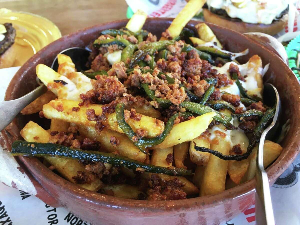 The Queso Fundido fries at Burgerteca