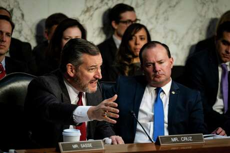 Sen.Ted Cruz (R-Texas) asks a question during a Senate Judiciary Committee hearing in Washington on Wednesday, Dec. 11, 2019. (Pete Marovich/The New York Times)
