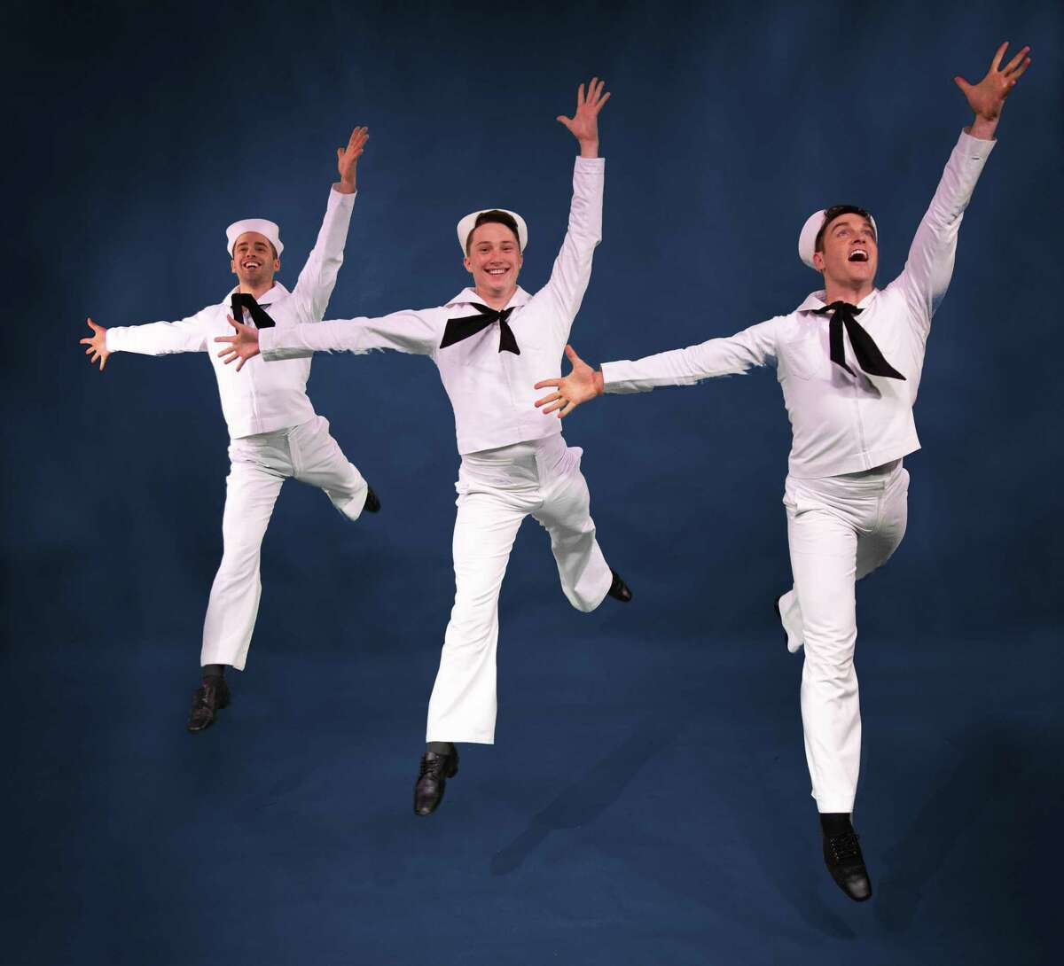 Connor McRory, Jordan Beall, and Tyler Hanes from the cast of Jerome Robbins' Broadway at Theatre Under The Stars.