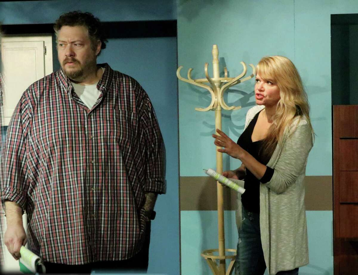 Julian and Stephanie (played here by Mat Young and Gillian Holt) rehearse for
