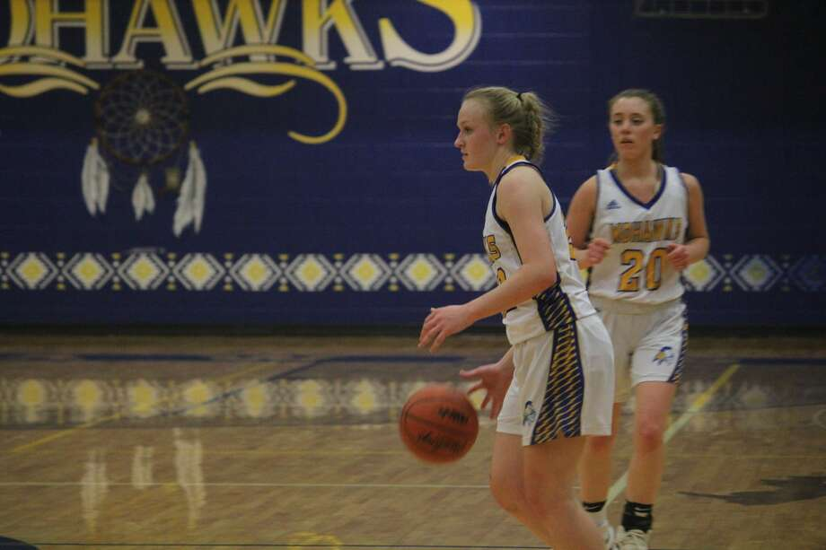 Morley Stanwood girls prevail over Holton in Friday night basketball action. Photo: John Raffel
