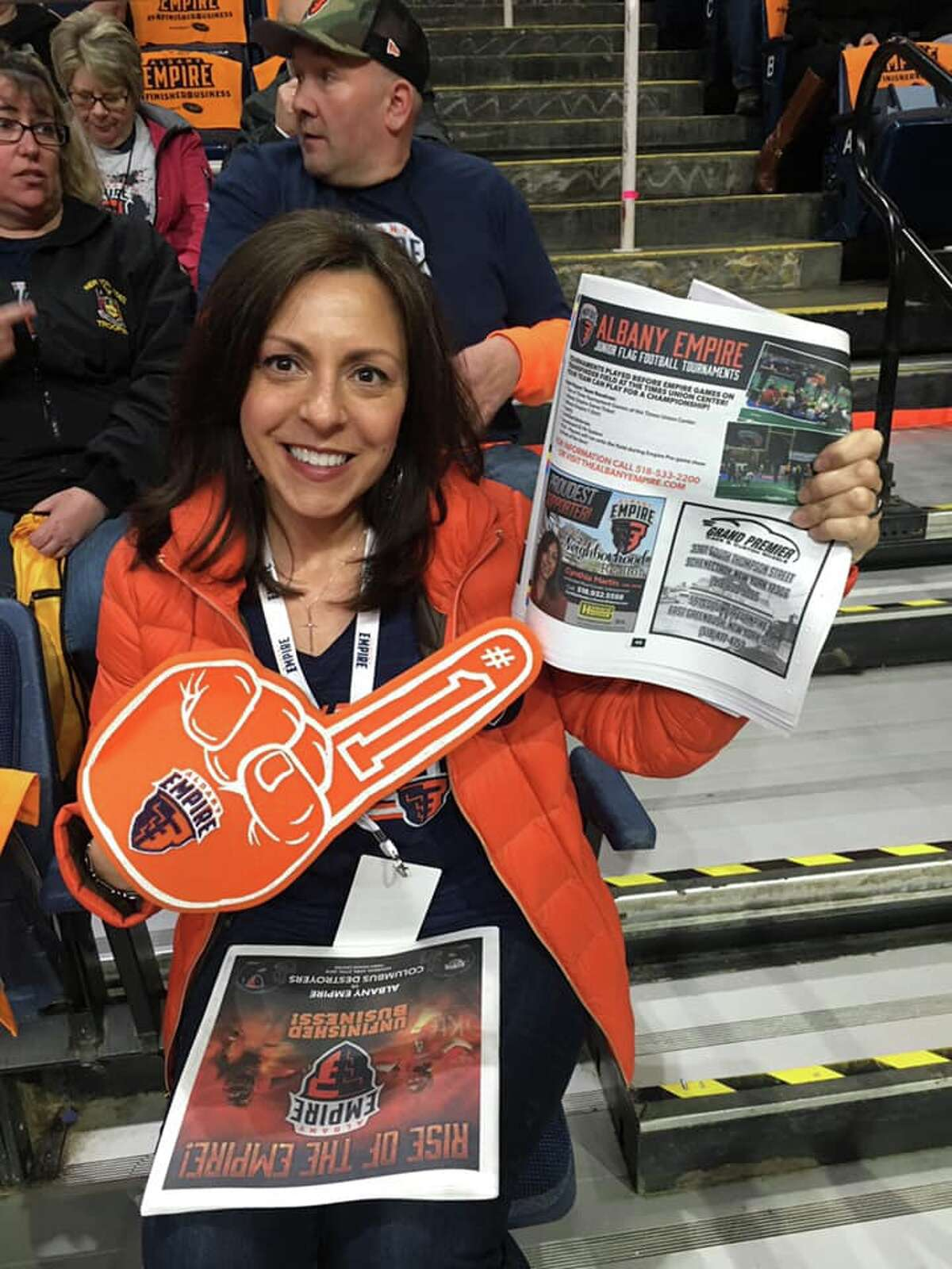 During Arena Football season, you would've found me screaming my head off at every Albany Empire home game! I loved them so much, and sponsored the team from the beginning.
