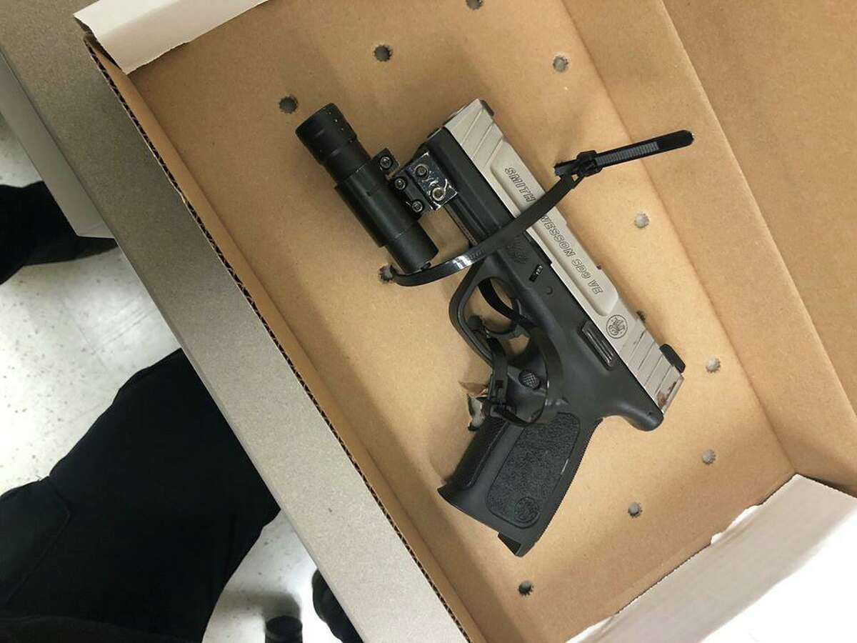 Stamford police arrested a juvenile on Thursday, Dec. 19, 2019 for carrying a Smith & Wesson handgun.