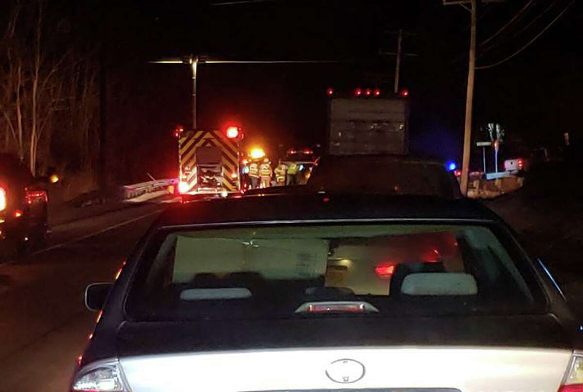 A three-car crash on Route 44 near Old North Road in Barkhamsted on Friday, Dec. 20 caused heavy delays.