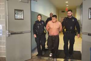 Jorge Lopez, 23, has been arrested in connection to the death of a San Antonio ISD police officer who was killed off duty while working security at a Southeast Side restaurant Saturday morning, Dec. 21, 2019. San Antonio police say Lopez is being charged with capital murder.