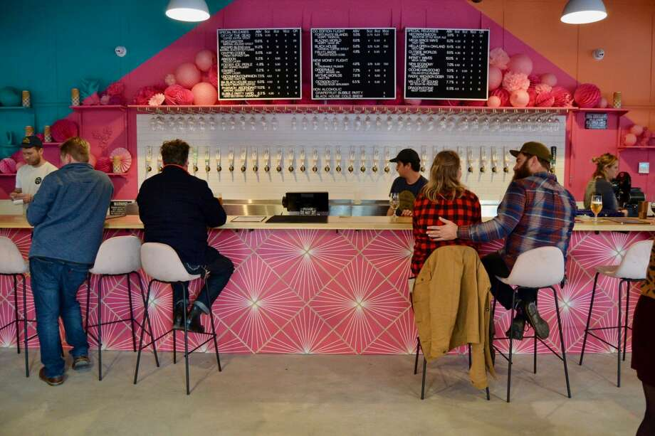 Modern Times opened its new Oakland taproom, House of Perpetual Refreshment, on Saturday, December 21, 2019. Photo: Alyssa Pereira / SFGATE