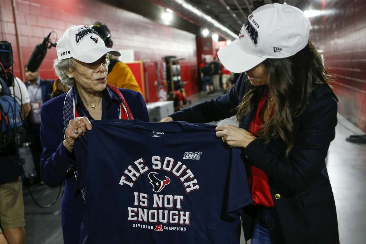 The Texans have another AFC South Division title but as the shirt says, it apparently is not enough to cause a huge buzz before Saturday's playoff opener against Buffalo.