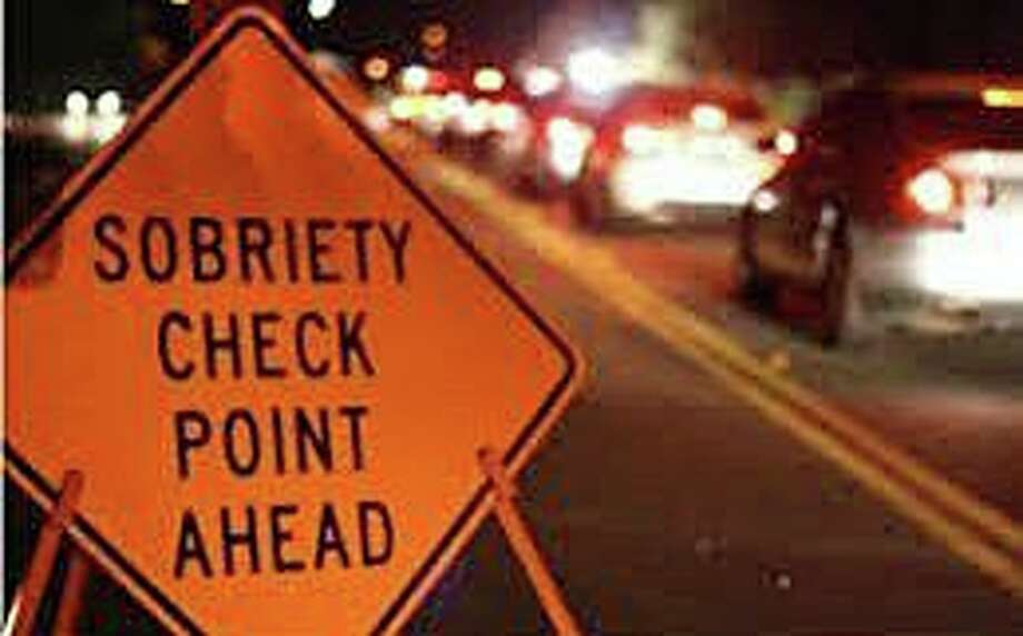 Sign for a operating under the influence checkpoint. Photo: Contributed Photo / Stamford Police Department