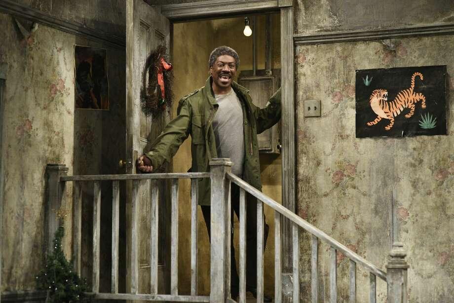 "Host Eddie Murphy as Mr. Robinson during the ""Mr. Robinson's Neighborhood"" sketch on December 21, 2019. Photo: Will Heath/NBC/NBCU Photo Bank Via Getty Images"