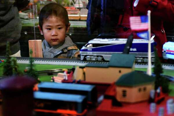 Kids enjoy The Wilton Historical Society Great Trains Holiday Show Saturday, December 21, ,2019, at the Society in Wilton, Conn. New this year a spectacular model winter village upstairs in the Toy Loft. The trains are open Wednesday to Saturday from 10:00 - 4:00, and Sundays 12:00 - 4:00. The Great Trains Holiday Show will run from Friday, November 29, 2019 through Monday, January 20, 2020.