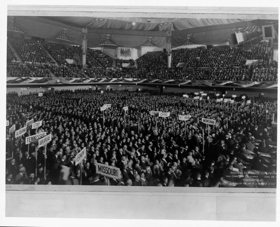 Delegates gathered at Bill Graham Civic Auditorium in San Francisco for the 1920 Democratic National Convention. Photo: Library Of Congress/Corbis/VCG Via Getty Images