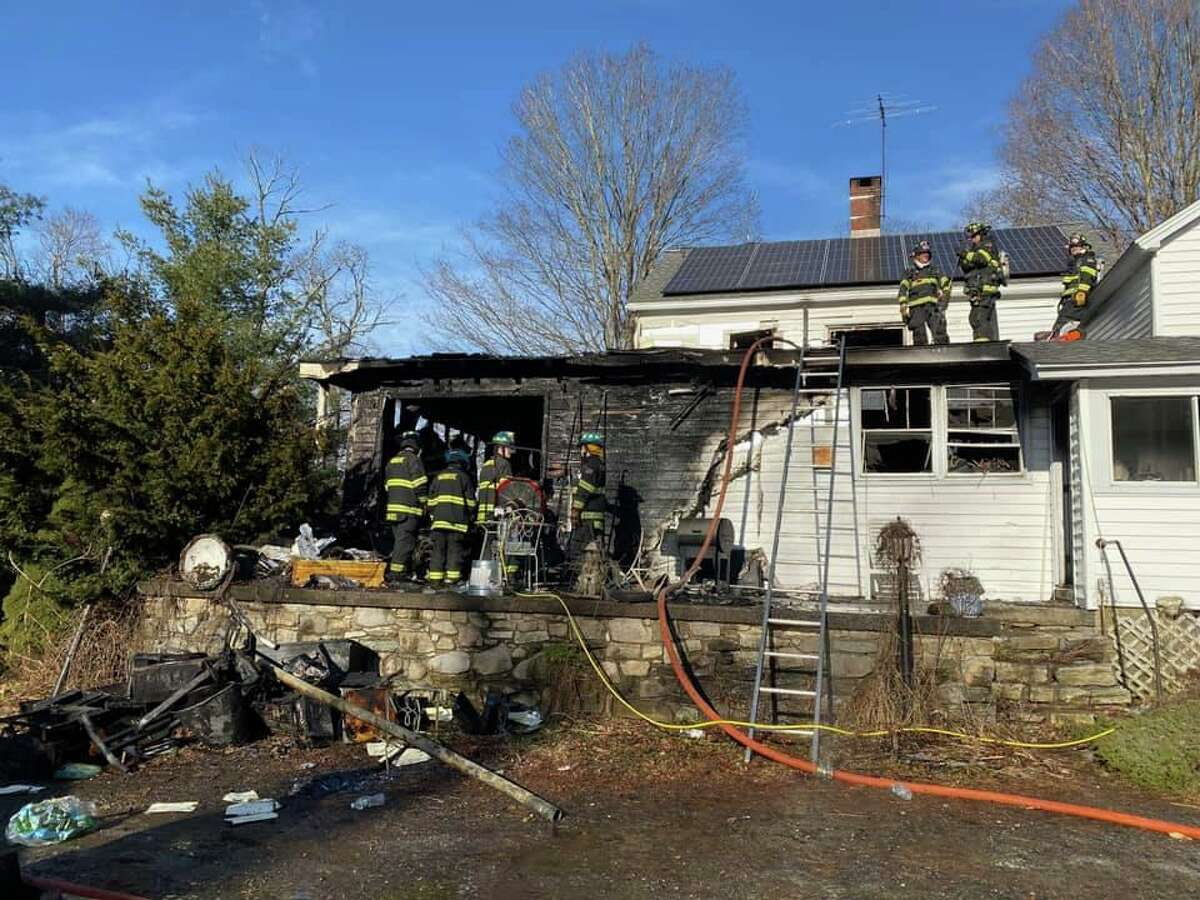 Fire crews were sent to a structure fire at 343 Hattertown Road shortly before noon Dec. 22, 2019.