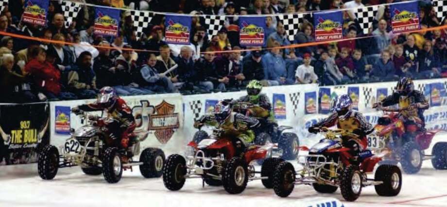 Danbury Ice Arena and Xtreme International Ice Racing are teaming up for two nights of motorcycle and quad racing around the ice rink, Jan. 3 and 4. Photo: Contributed Photo