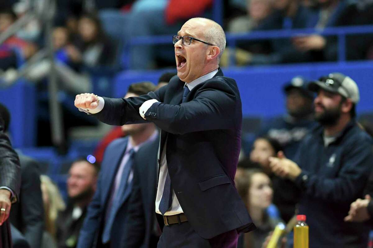 Coach Dan Hurley and the UConn men's basketball team will face NJIT on Sunday.